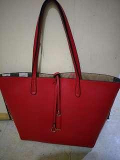 Red shopper's bag