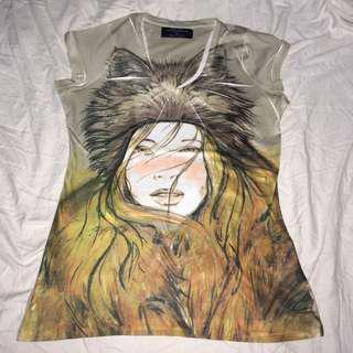 zara graphic shirt