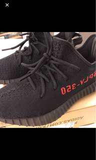 九成新 Adidas originals yeezy v2 bred US 8