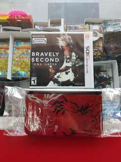 3DS XL Pokemon Y set (Used) + Bravely Second