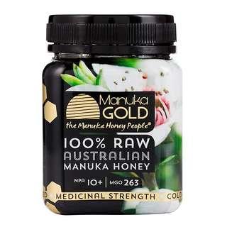 (預購商品-澳洲代購)麥盧卡100% Raw Australian Manuka Honey 250gNPA 10+,MGO 263(包順豐)