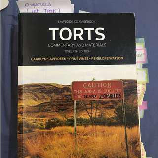 Torts Law Textbook 12th Edition