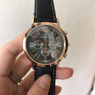Emporio Armani Gold and Black Watch