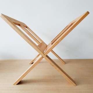 (極新)無印良品木製雜誌架 (mint condition) Muji wooden magazine rack