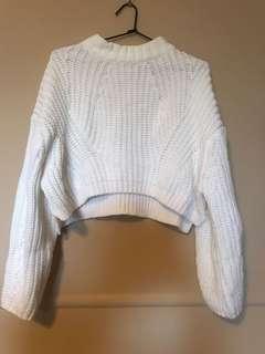 White jumper knit