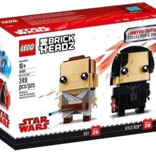 LEGO Star Wars Brickheadz 41489 Rey & Kylo Ren