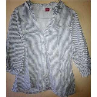 Stripes Blouse Plus Size