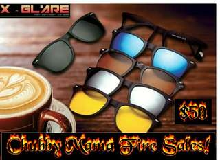 🔥 3rd Anniversary Fire Sales!! 🔥 😎X- Glare Clip-on Magnetic Sunglasses with 5 lenses design😎