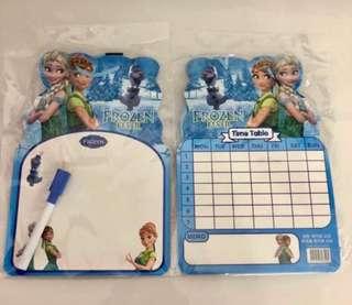 Frozen theme whiteboard set- children's day celebration gift, birthday party goodies favors