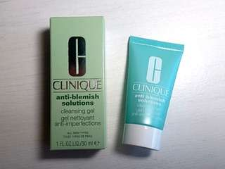 (100% 新) Clinique 舒緩暗瘡潔膚啫喱 anti-blemish solutions cleansing gel (30ml) #summer19