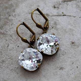 Swarovski clear 12mm crystal earrings