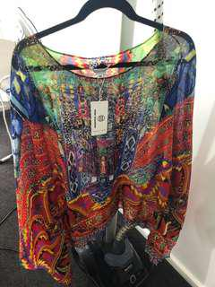 Kaftan mini dress/top