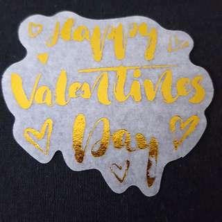C7 Happy Valentine's Day Calligraphy Sticker Stickers