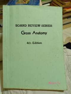 Board Review Series Gross Anatomy, Textbooks on Carousell
