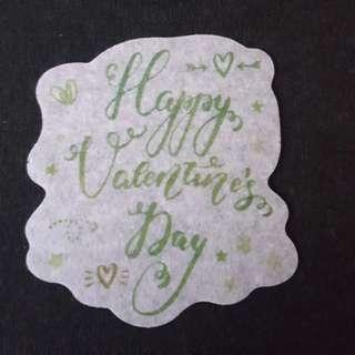 C7 Happy Valentine's Day 3 Calligraphy Sticker Stickers
