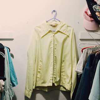 Vintage Yellow Windbreaker
