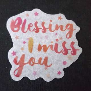 C7 Blessing I Miss You Calligraphy Sticker Stickers
