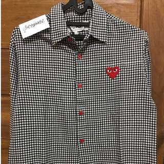 Play by Comme des Garcons CDG Long Sleeve Slim Fit Shirt