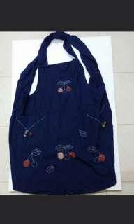 日本藍色染布圍裙 2 條 100%new