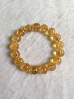 Citrine bracelet 12mm bead 48.1gram