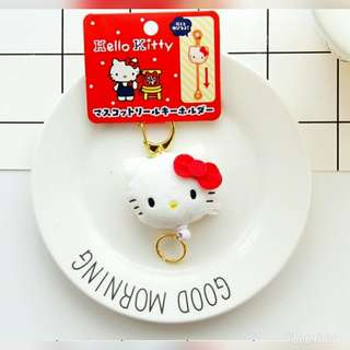 Hello Kitty Cinamon Roll Retractable keychain