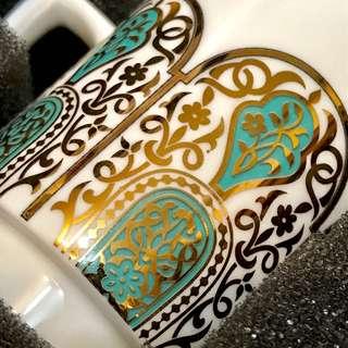 玻璃器皿:土耳其瓷杯玻璃杯套装