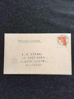 WW2 German Occupation Guernsey 1941 2d KG VI Bisect on Postal Card