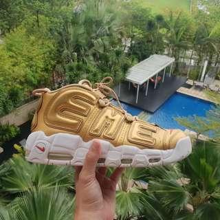 Nike x Supreme Uptempo Gold