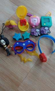 assorted mcdo toys bundle