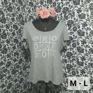 Gray printed shirt