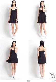 New Black Cami Plus Size Bra Padded Dress