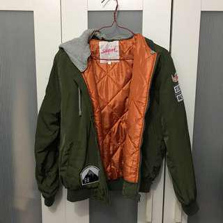 Bomber Jacket w Hoodie