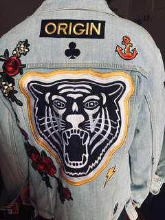 Levis Denim Jacket With Custom Patches