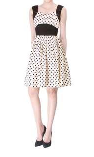Doublewoot polka dots flare dress #mcsfashion