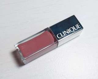 (100% 新) Clinique 耀彩亮澤唇蜜 (裸色) Pop Lacquer Lip Colour + Primer (01 Cocoa pop) #summer19