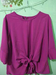 Blouse ungu