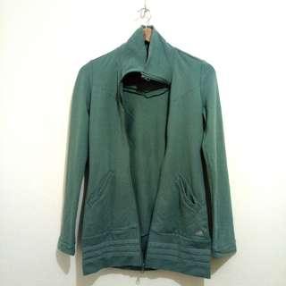 Adidas Teal Zip-Up Sweater