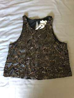 Sequin Crop Top