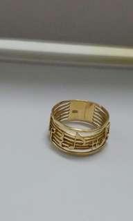 🚚 18k金音符戒指