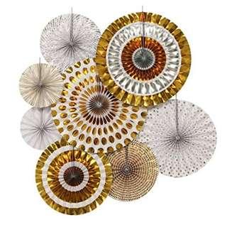 Gold Foil Decoration Paper Fan