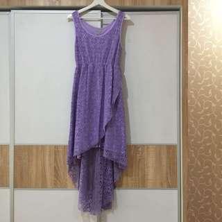 Soft Purple High Low Maxi Dress