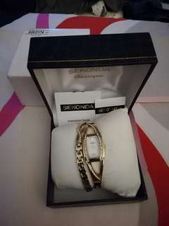 Sekonda Classique Gold-plated Watch & Bracelet set