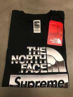 Supreme x Northface Metallic Tee (Size M)