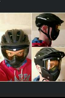 🚚 🆕🌟Hot Sales Modular Mask Detachable Goggles And Mouth Filter Perfect FOR Open Face Motorcycle Half Helmet or Vintage Helmets