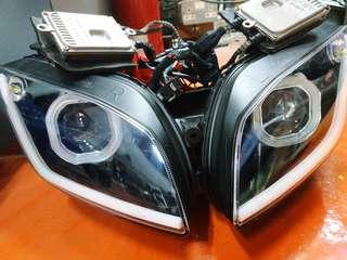 [R15 V1/V2] Headlight For R15 (HID + Dual DRL + Bluetooth Angel Eye)