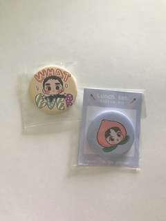 exo D.O. & suho fanart badges