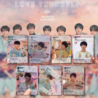 [PO] BTS Love Yourself Concert In Seoul 5th Army Booth Official Transparent Photocards