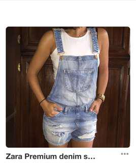 Authentic Zara overall shorts