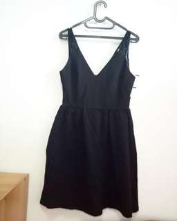 zara trafaluc little black dress
