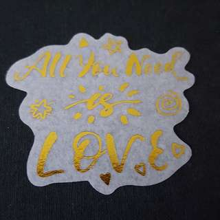 C7 All You Need Is Love Calligraphy Sticker Stickers